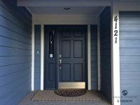 Painting Doors And Trim Different Colors. Exterior Door