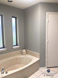 E-Design: An Almond Bathroom Gets a Fresh Paint Colour