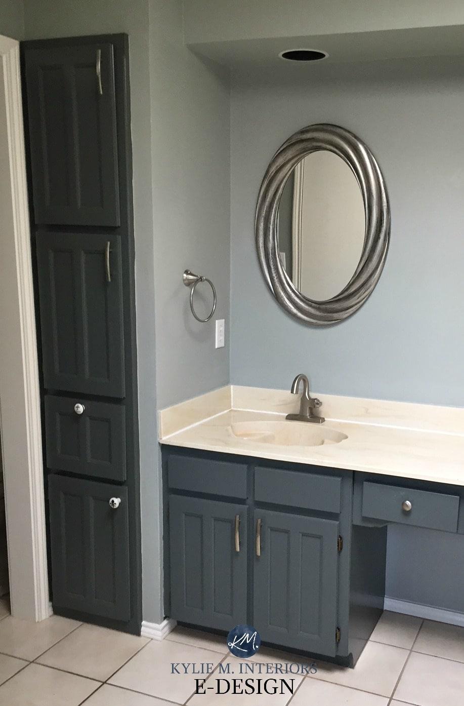 Bathroom With Almond Bone Beige Fixtures And Countertop