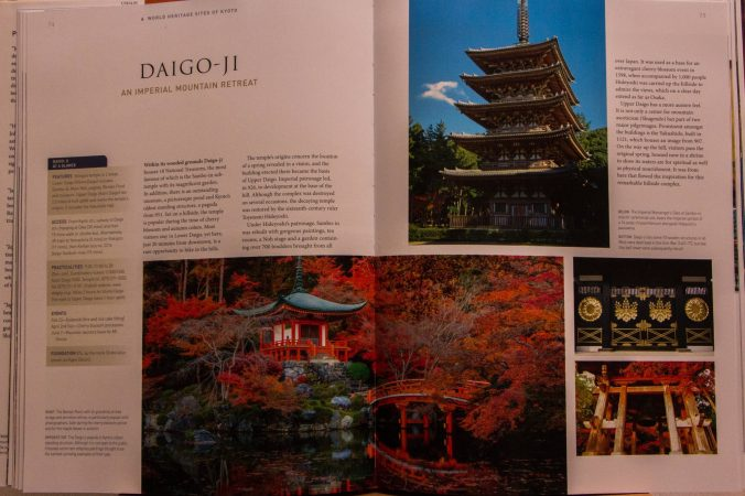 "A peek inside the John Dougill's book """"Japan's World Heritage Sites"", featuring Daigo-ji Temple in Kyoto."
