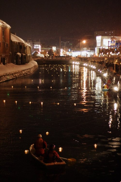 otaru_canal_and_floating_candles