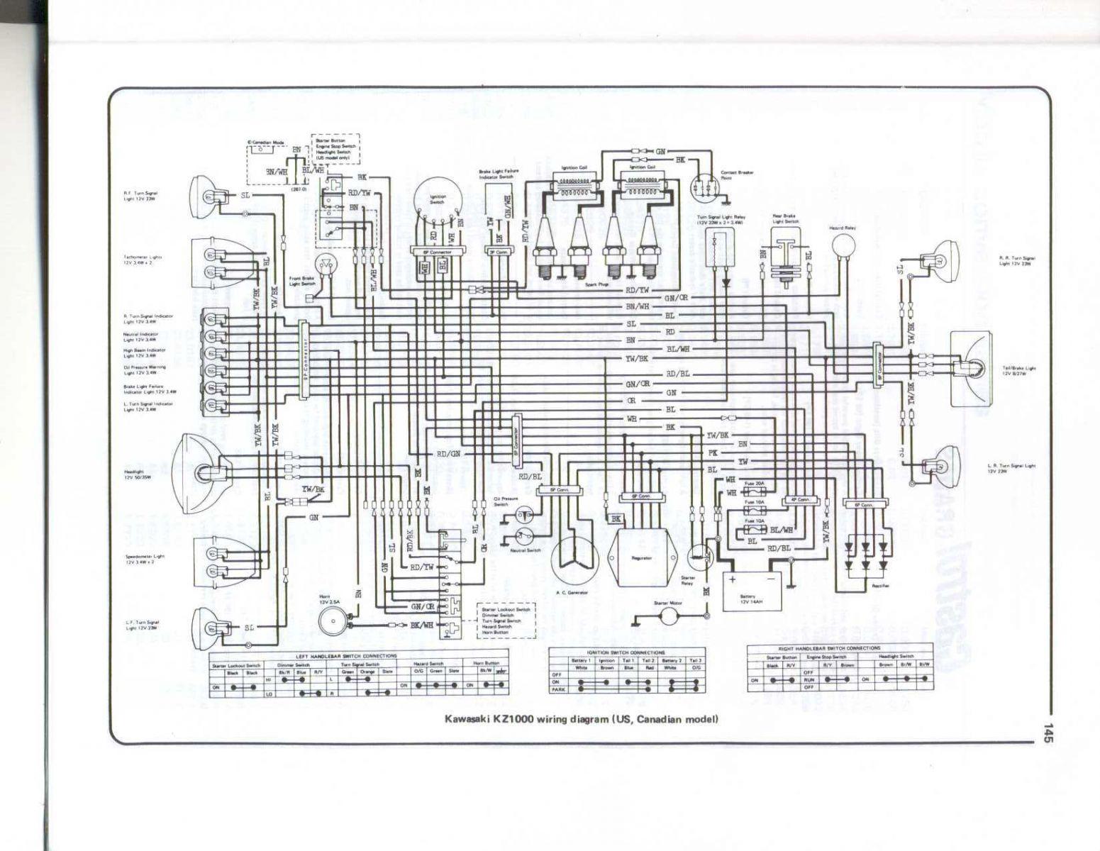 kz1000 wiring diagram picture