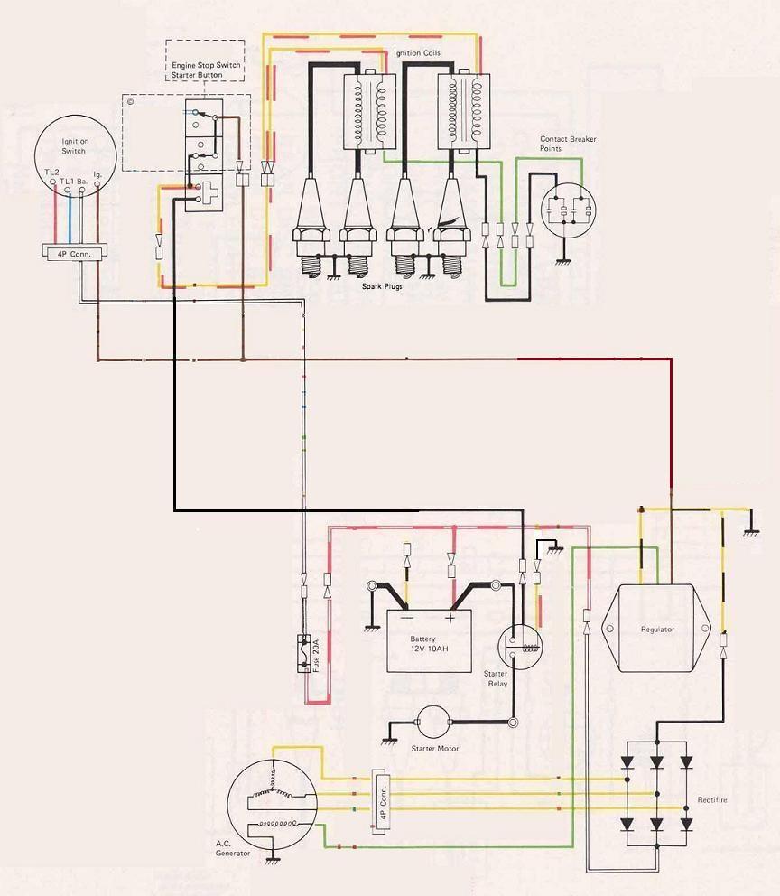 Kz550 Wiring Diagram Simple Fj1100 Kawasaki Easy Auto Electrical 1982 Diagrams