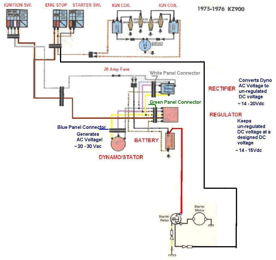 simple wiring diagram for kz1000