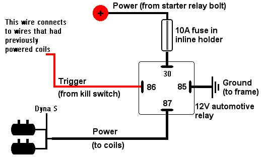 relay wiring ground trigger