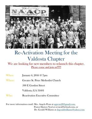 NAACP Reactivation Meeting, Valdosta Chapter, 2016-01-06