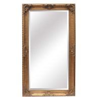 Francoise Extra Large Ornate Antiqued Gold Mirror - La ...