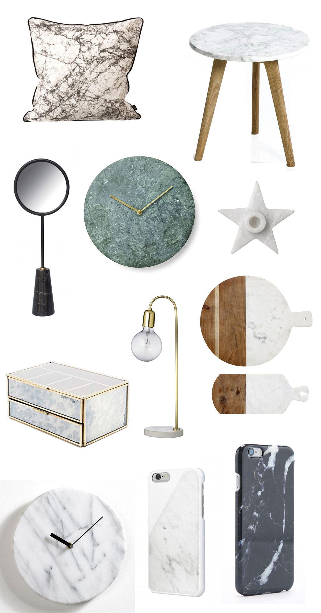 Shopping 11 objets compl tement marbr s - Marbres design ...
