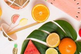 shopping-pic-nique-serviettes-papier-pasteque-set-fruits-exotiques