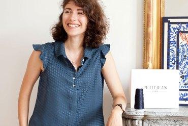 Léa, créatrice de la marque 100% soie Petitjean Paris