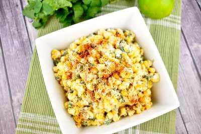Mexican Street Corn Salad Recipe - 1 Point - LaaLoosh