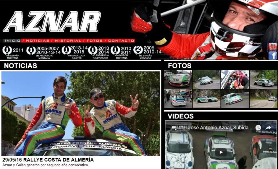 """José Antonio Aznar y su copiloto José Crisanto Galán al volante del """"Porsche 911 Gt3 Cup Rally""""."""