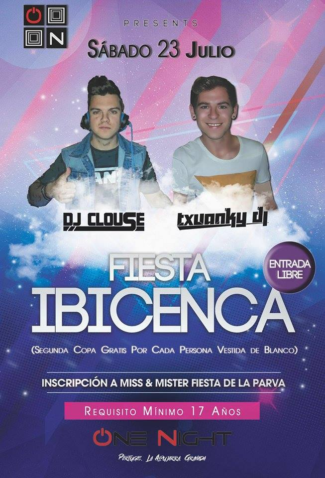 Pórtugos - Fiesta Ibicenca en Discoteca One Night