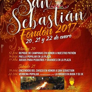 Fondón – Fiestas patronales en honor a San Sebastián 2017