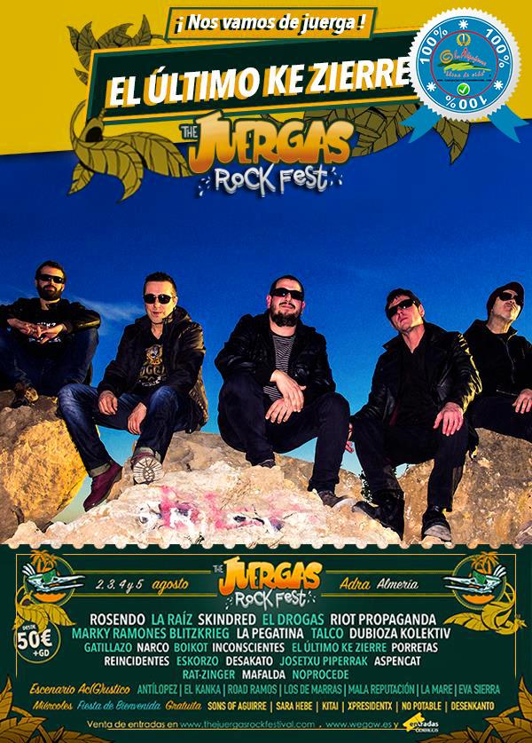The Juergas Rock Festival - Adra - La Alpujarra - Almería 2017 - Grupo 14