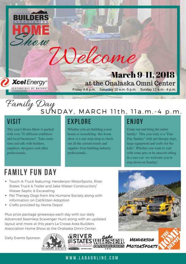 2018 Home Show Daily Event Flyers - LABA
