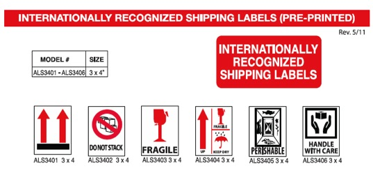 Pre-Printed Shipping Labels - Fragile Shipping Labels Label-Aid
