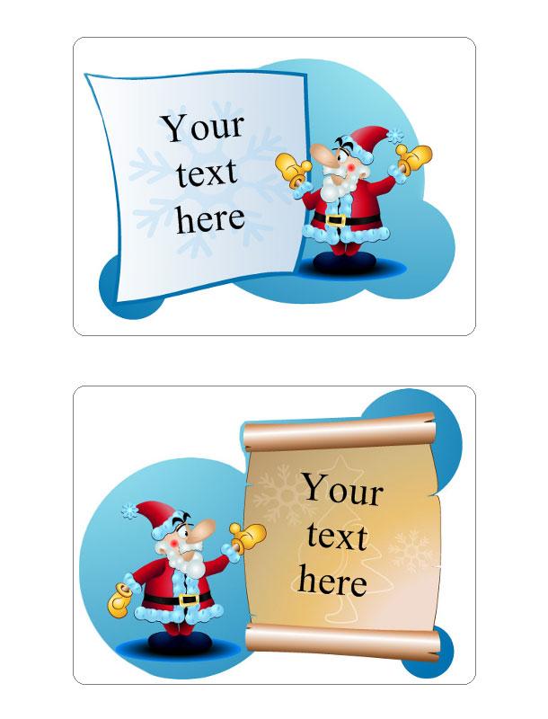Christmas tag Template Create Custom Christmas Gift Tags - christmas tag template