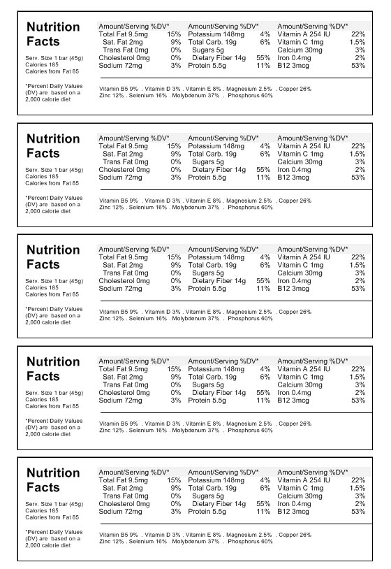 Nutrition Label Template Download Create Nutritional Labels - ingredient label template