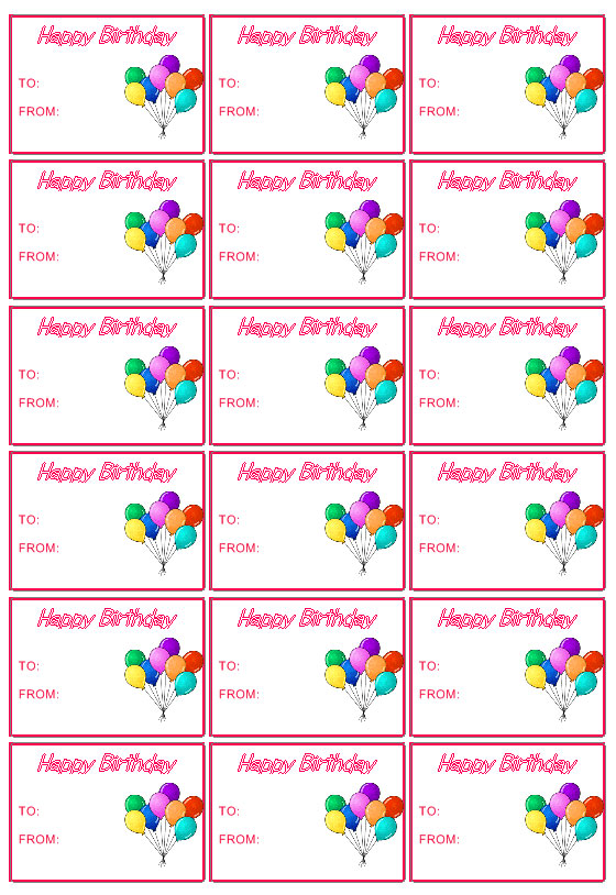 Gift Tag Templates Create Custom Gift Tags for every occasion - gift tag template
