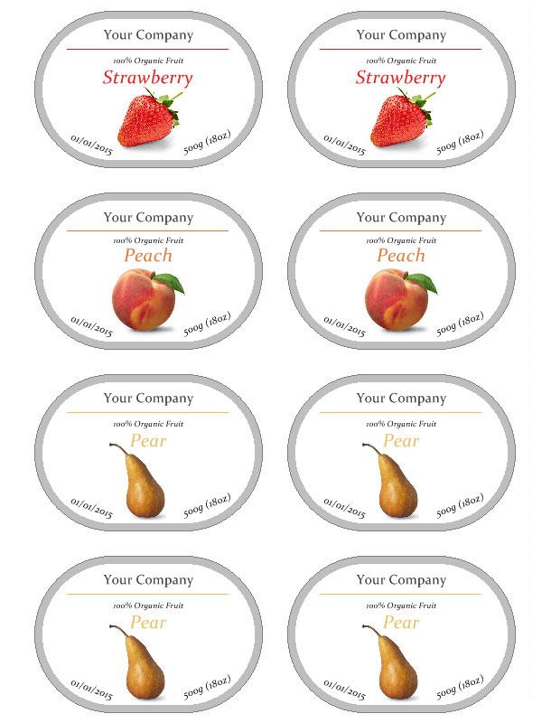 Jam label template free - label templates free