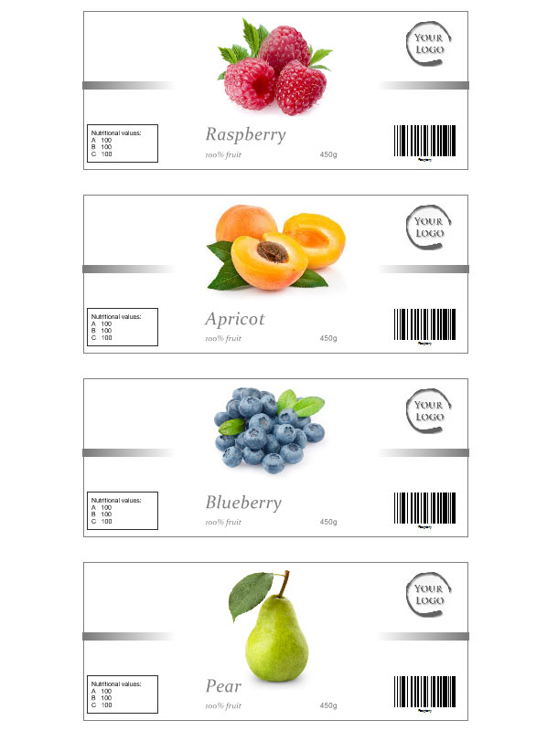 Jam label template free - ingredient label template