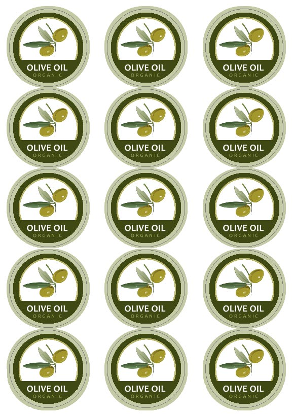 Olive oil labels templates