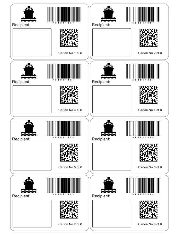 Package Label Template Ophionco - Custom shipping label template
