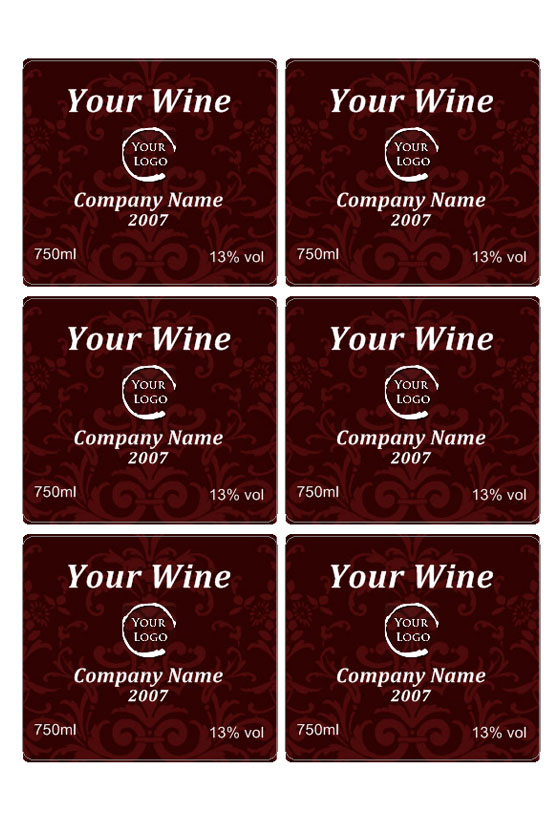 Wine Label « Labeljoy Labels printing Software \u2013 Barcodes Generator