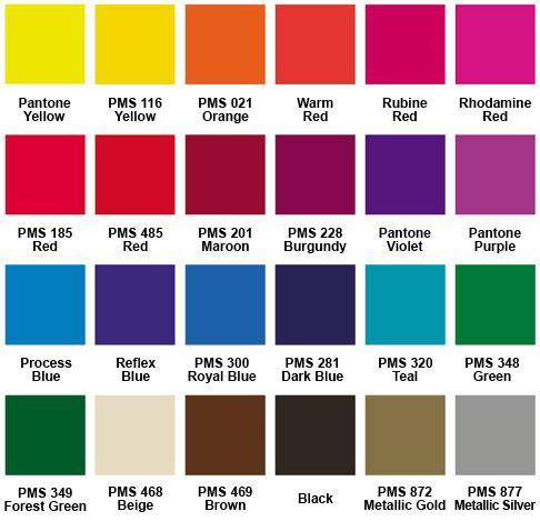 Spot Color (PMS) vs CMYK 4C Process - which is best? - Rose City - sample pantone color chart