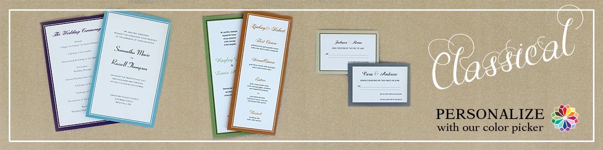 Classical Wedding Stationery - custom personalization of wedding