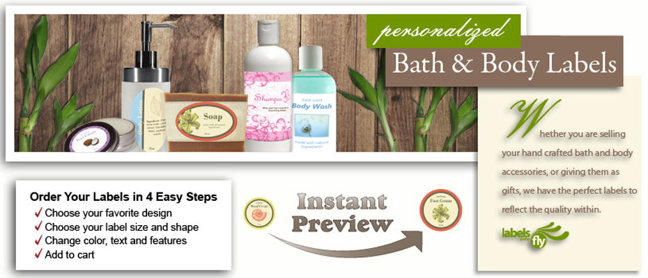 Bath, Body Labels Custom Bath Stickers,Body Products Labels, soap