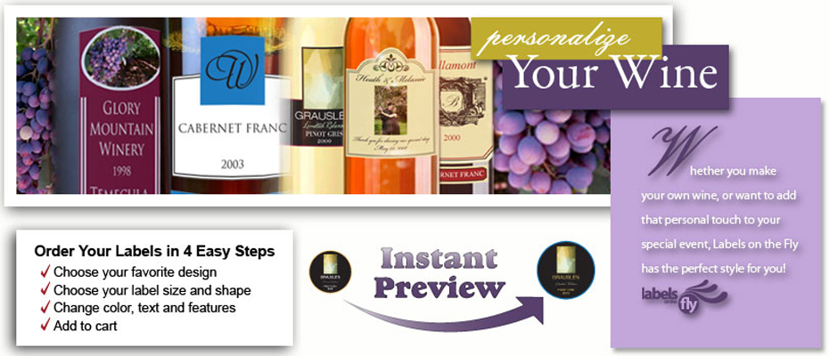 Custom Wine Bottle Labels and Personalized wine bottle labels for