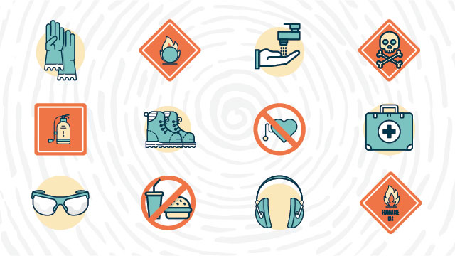 Science Laboratory Safety Symbols and Hazard Signs, Meanings Lab