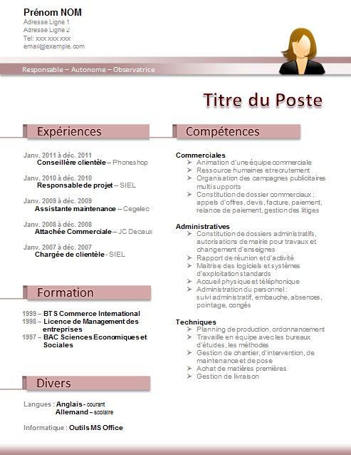 model cv comptable cabinet
