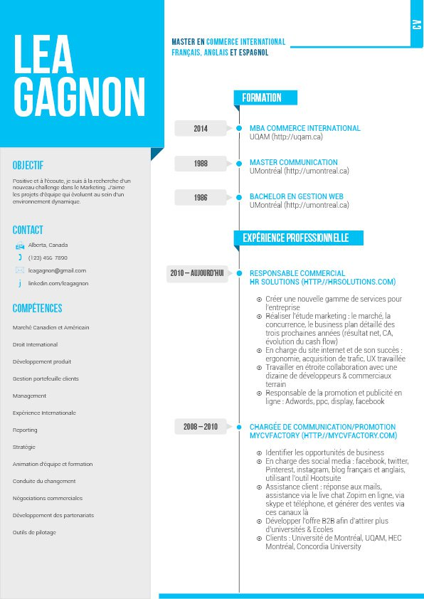 comment presenter un cv sur deux pages