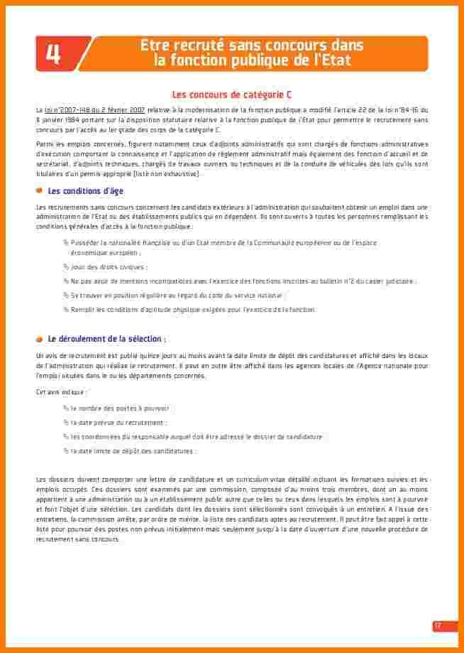 image modele cv fonctionnaire territorial modele cv
