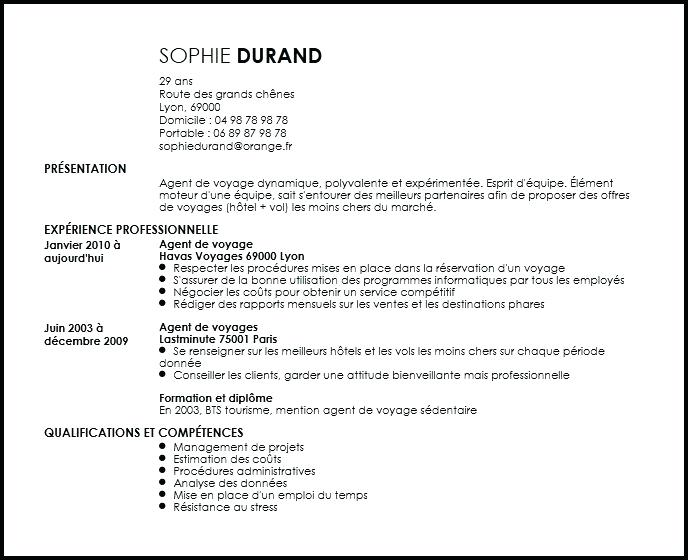 exemple de cv banque privee