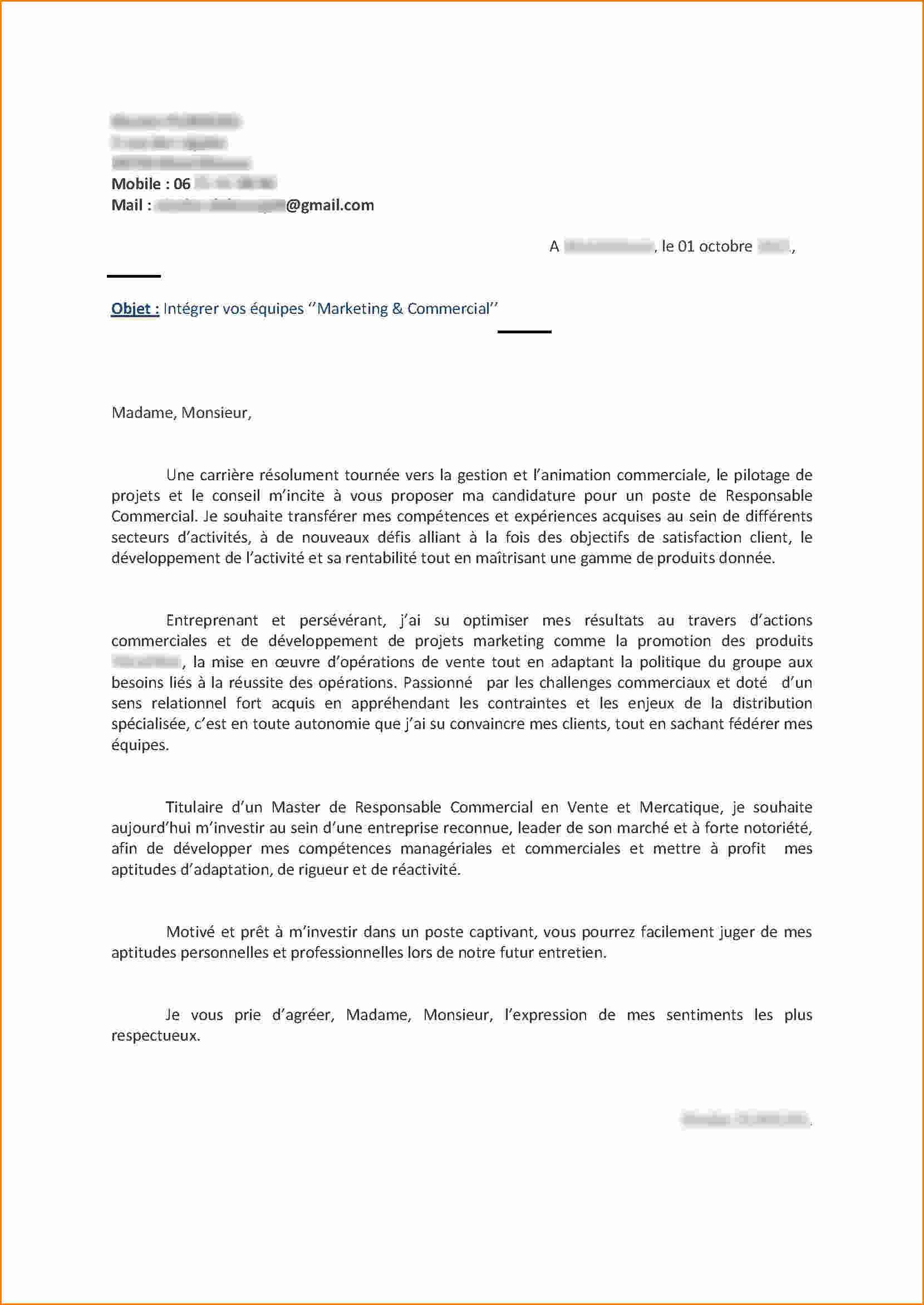 lettre de motivation hm sans experience
