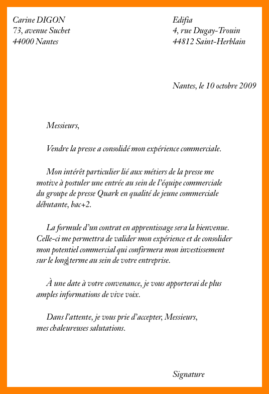 exemple lettre de motivation pour reconversion exemple de lettre