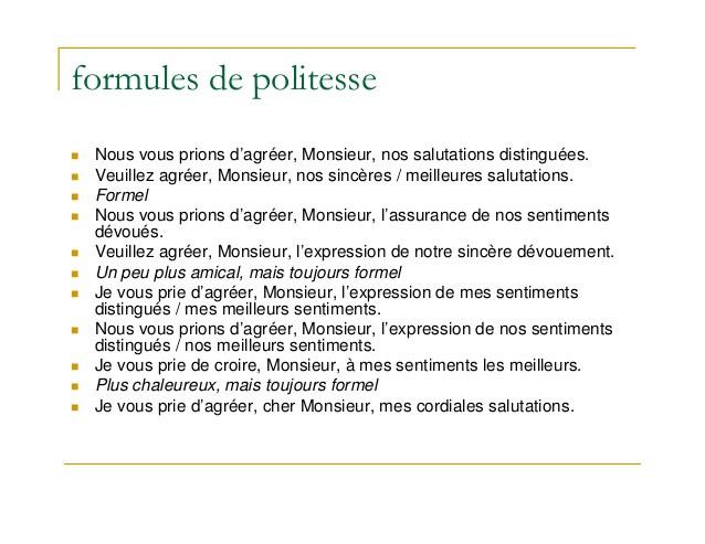 photo formules de politesse pour lettre administrative lettre de motivation