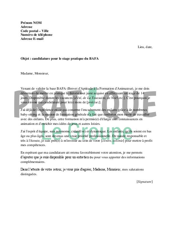 exemple lettre spontanee exemple de lettre