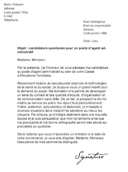 image lettre de motivation agent daccueil caf modele cv
