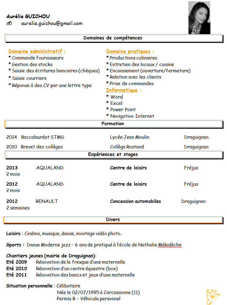 exemple de cv preparateur commande