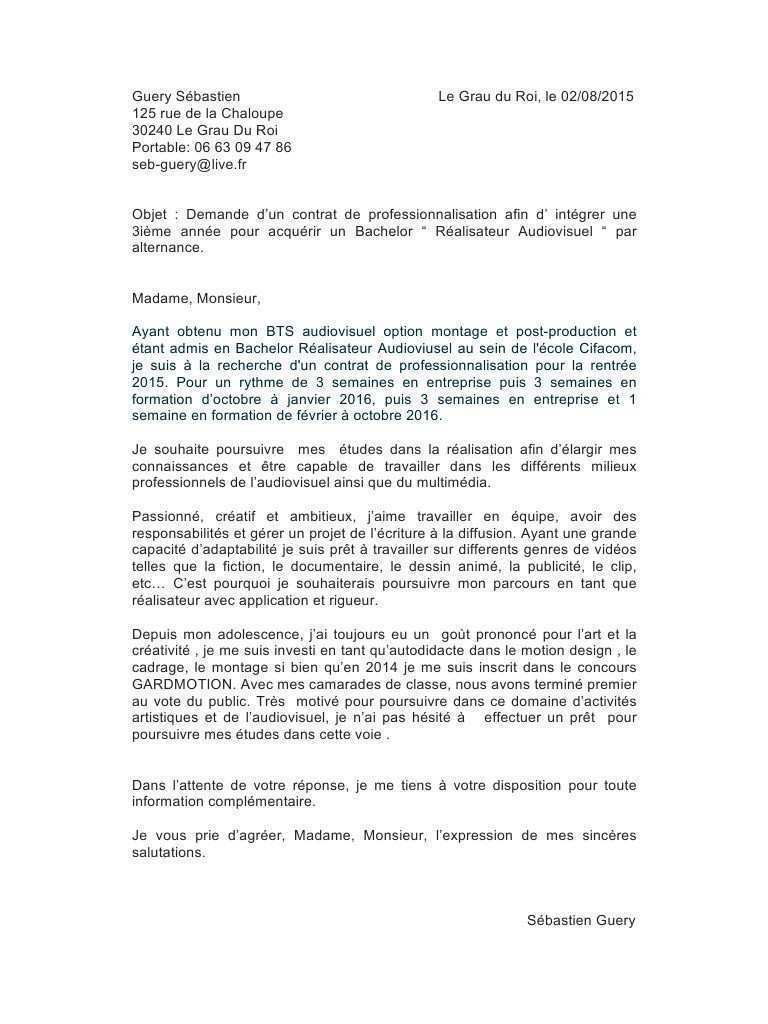 exemple lettre de motivation du exemple de lettre
