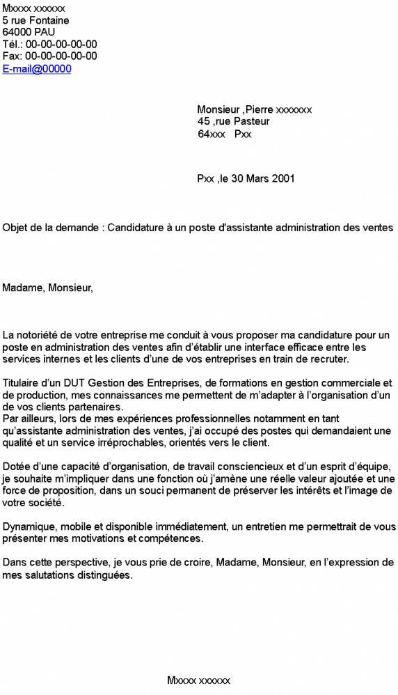lettre de motivation dut gestion administrative et commerciale des organisation