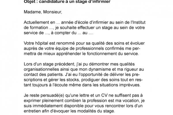 cv stage pre professionnel infirmier