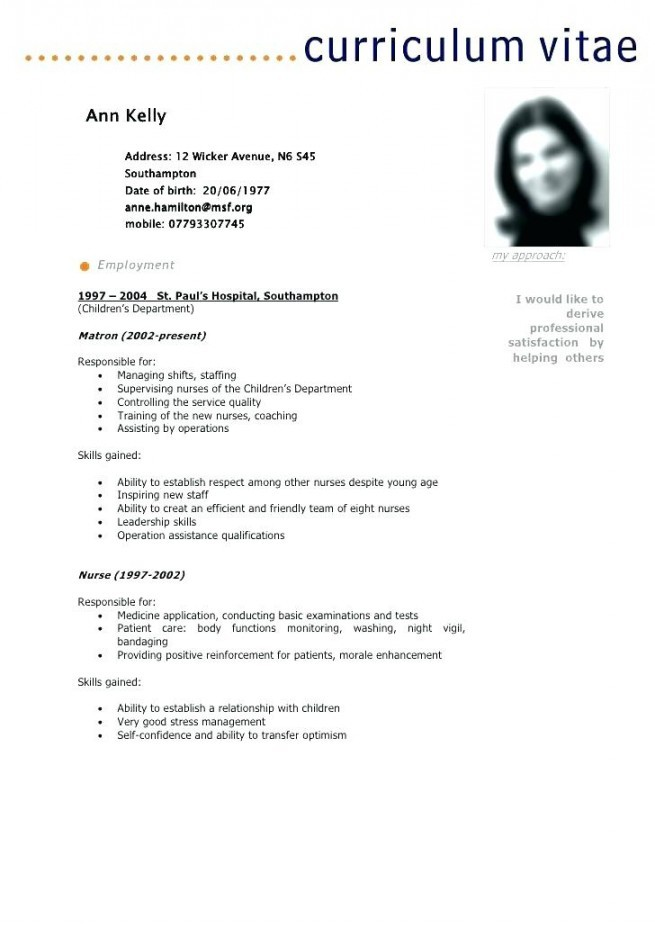 definition of resume for a job