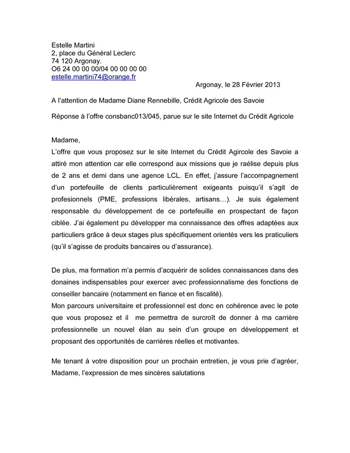 lettre administrative concours