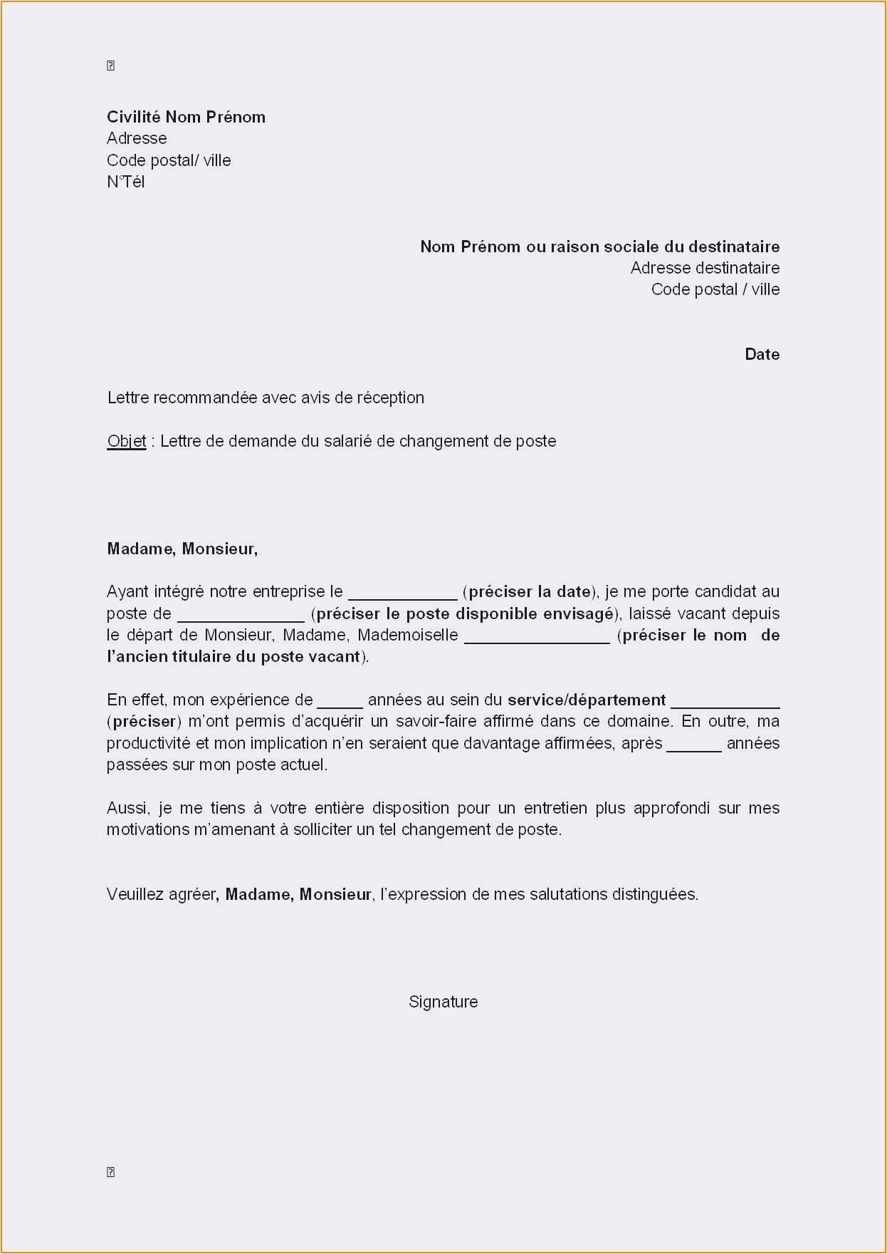 avis modele cv fonction publique gratuit lettre type